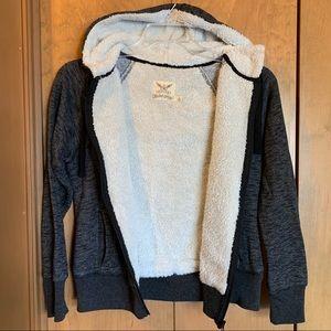 Faded Glory Fleece-Lined Hoodie Jacket, Soft